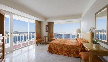 Quarto king com vista para o mar Hotel Krystal Beach Acapulco Acapulco